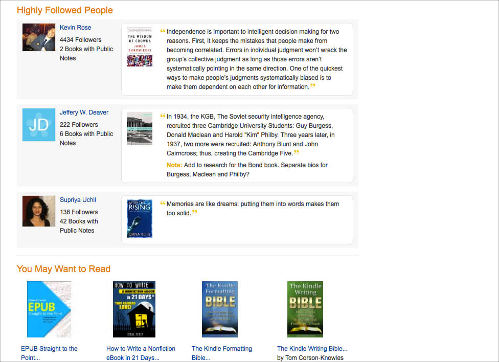 AmazonKindleトップページの下